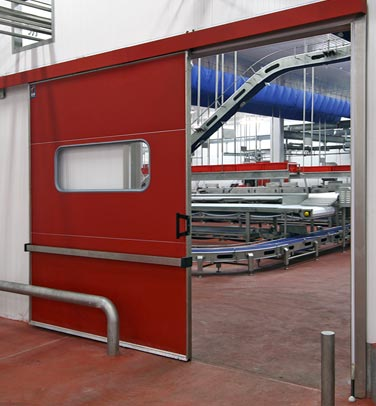 Puerta corredera industrial t1 tane hermetic semi herm tica for Marco puerta corredera