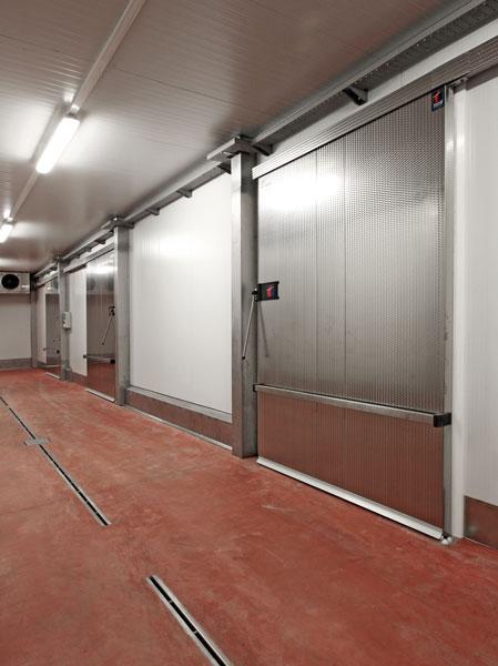 Puerta corredera frigorifica th4 hermetica tane hermetic - Puerta corredera industrial ...