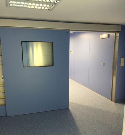 Puerta m dica corredera emplomada tsc1 para salas de for Puertas semi macizas blancas