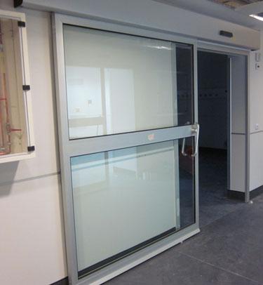 Puerta corredera herm tica sanitaria th7 gh para for Puertas correderas de cristal para exterior